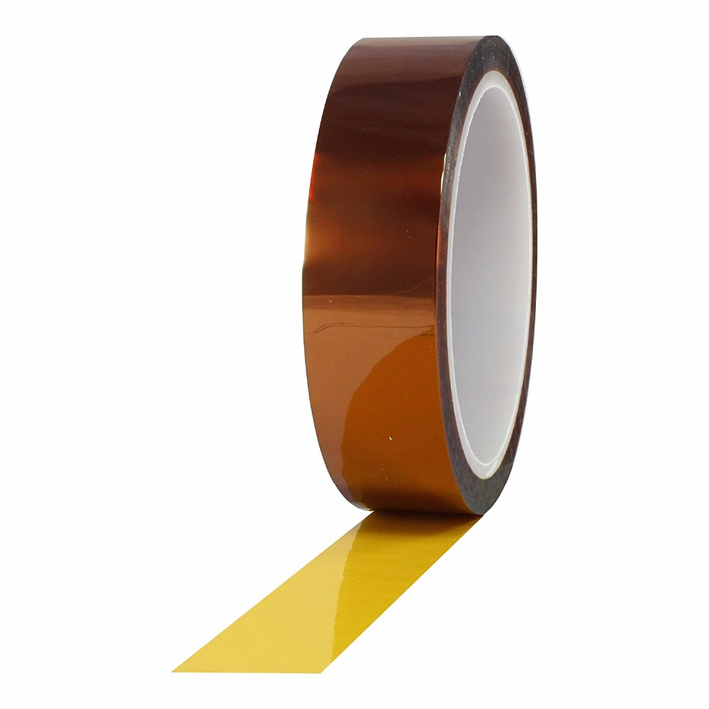 Free Shipping 20mm x 30m Heat Resistant High Temperature Polyimide Adhesive Tape Tawny for mobile repair high temperature heat resistant polyimide adhesive tape 65mm x 30m 260 300 degree new for electronics industry