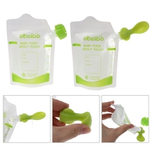 10 PCS Baby Food Pouches Feeding Supplies Bag Double Zippers Reusable Food Box Durable Refillable Reusable