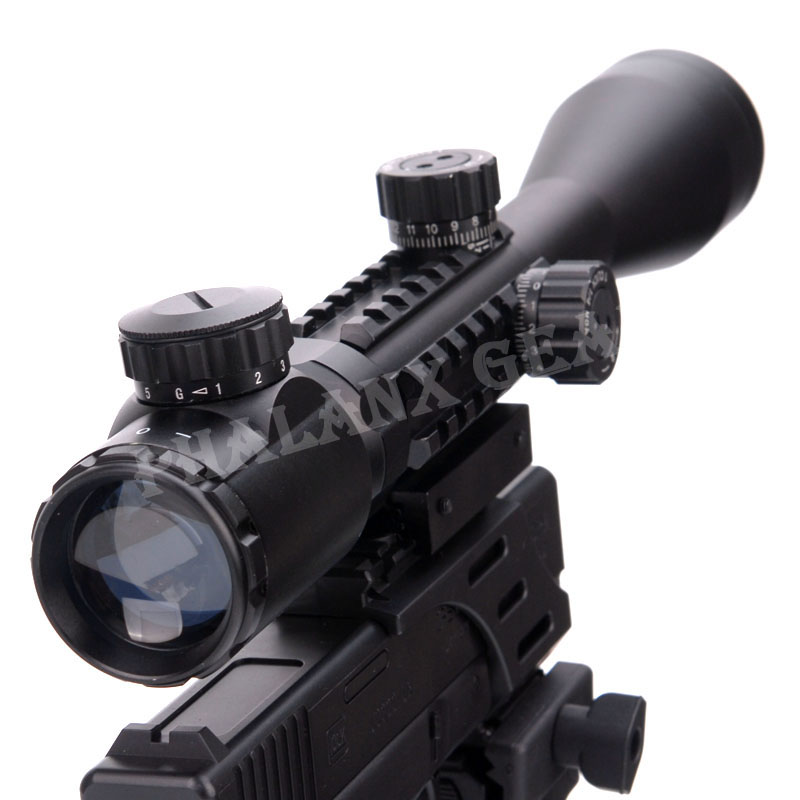 3-9x40EG Nuit Vision Scopes Carabine À Air Comprimé Pistolet de Tir En Plein Air Chasse Télescope Vue Haute Reflex Queue D'aronde Rail 11mm à 20mm