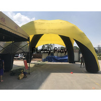 Customized huge dome Inflatable spider tent,event station,party/roof yard tent for car promotion or advertising garage