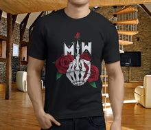 Funny Tee Shirts Casual Motionless In White Miw Skull Fingers O-Neck Short-Sleeve Mens