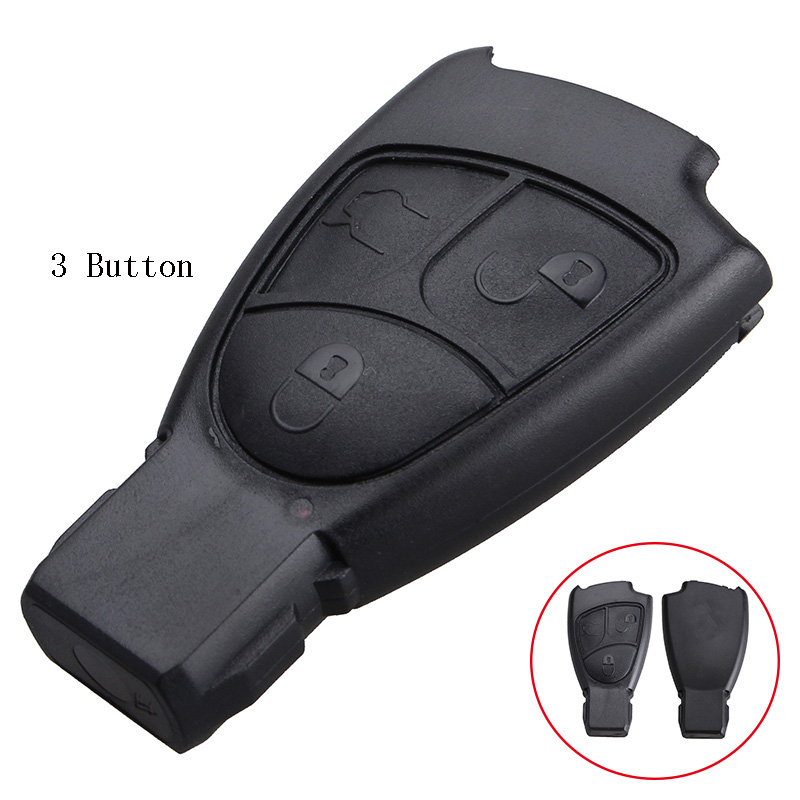 Replacement Shell 2/3/4 Buttons Car Remote Key Fob Case Cover For Mercedes Benz C E ML S SL SLK CLK B Class Original Keys цена