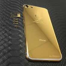For iPhone 7 4.7″ 24K 24KT 24CT Gold Limited Edition ROSE GOLD PLATINUM Back Cover Housing Middle Frame Replacement + LOGO