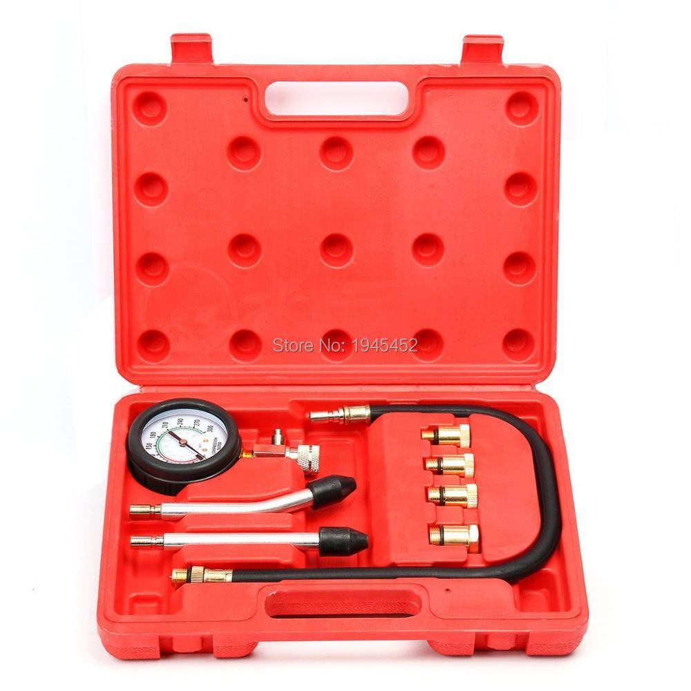 Motor Auto Petrol Engine Cylinder Pressure Gauge Diagnostic Tool Compression Tester Set Rapid Type Tester Kit Car Tools New Hot
