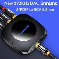 Unnlink Новый преобразователь аудиосигнала из цифрового в аналоговый-192 кГц ЦАП оптический SPDIF коаксиальный Оптический выход RCA 3,5 jack для ps3 ps4 ТВ...