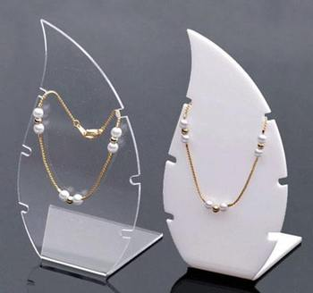 Free shipping acrylic display rack stand holder necklace jewelry display necklace stand display shelf pack of 4pcs цена 2017