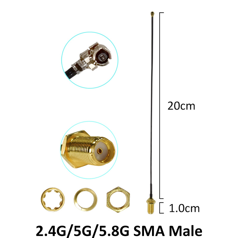 5pcs 2 4GHz 5GHz 5 8Ghz Antenna real 8dBi SMA Male Connector Dual Band wifi Antena 21cm RP SMA Male Pigtail Cable in Antennas for Communications from Cellphones Telecommunications