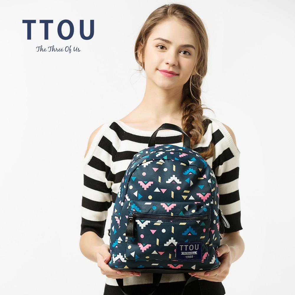 TTOU дизайн цветни триъгълник печат - Раници - Снимка 3