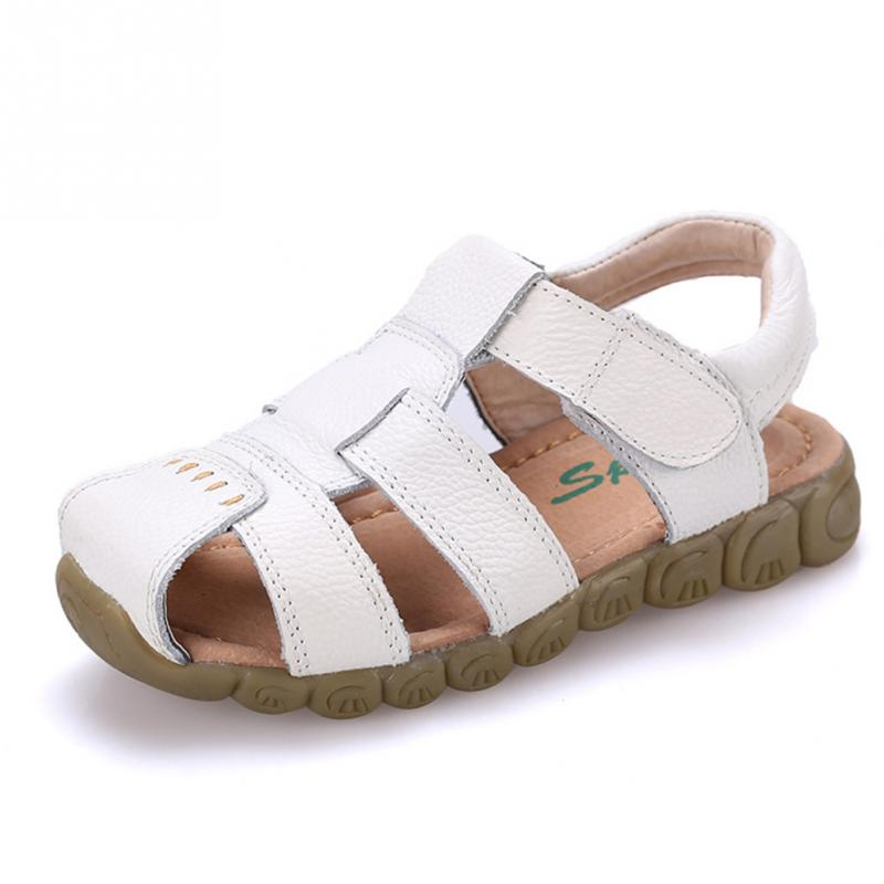 Boys Leather Sports Sneaker Sandals Children Summer Outdoor Walking Sneakers Shoes Kids Breathable Antiskid Shoes