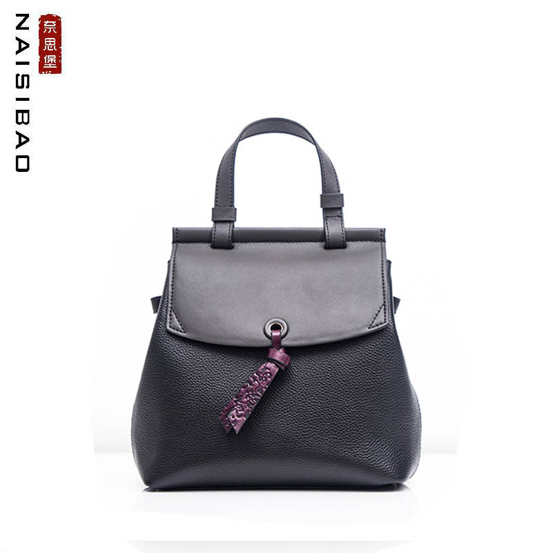 NAISIBAO Genuine Leather bags top Cowhide women leather bag real leather Leisure big capacity women leather tote backpackNAISIBAO Genuine Leather bags top Cowhide women leather bag real leather Leisure big capacity women leather tote backpack