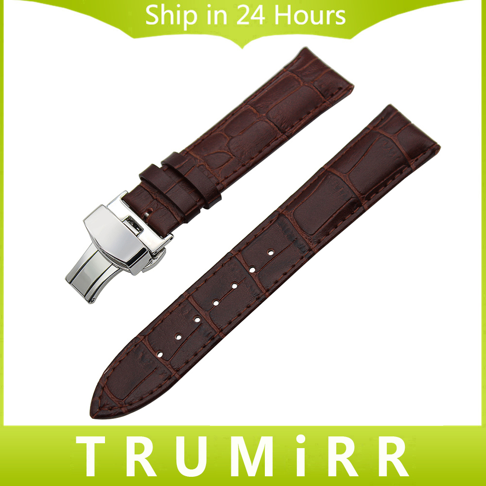 Genuine Leather Watchband for Oris Culture Aviation Watch Band Butterfly Buckle Strap 14mm 16mm 18mm 19mm 20mm 21mm 22mm 24mm oris 658