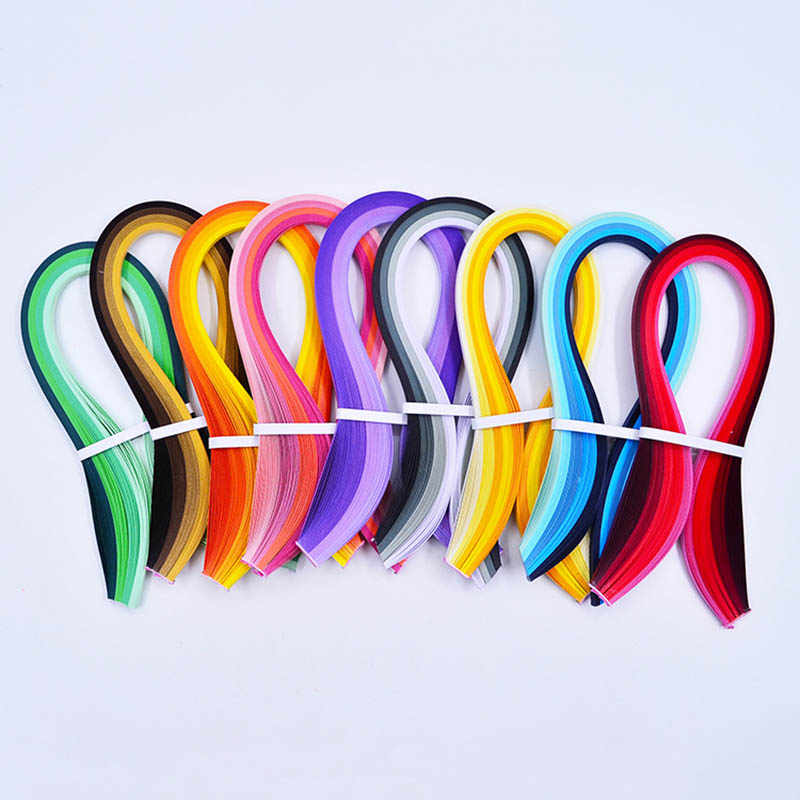 100 Stripe Quilling Paper Mixed Color DIY Decoration Pressure Relief Gift Gradient Color Craft Paper 3/5mm Width Origami