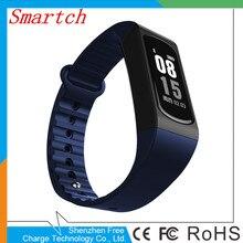 Smartch Здоровый Спорт smart bluetooth браслет Подключение с Android и iOS смартфон сердечного ритма трекер Smart Band