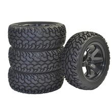 ARC0004 1/10 4PCS RC Rally Car Grain Rubber Tires 1:10 1:16 Wear Resistant On Road Car Tires For Traxxas Tamiya HSP HPI Kyosho 4pcs 1 10 high performance rc rally car grain rubber tires and wheels for 1 10 rc on road car traxxas tamiya hsp hpi kyosho