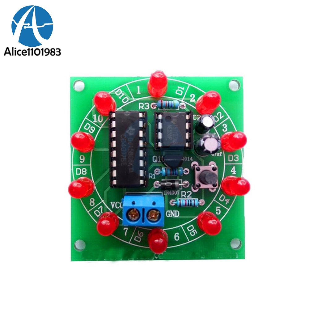 NE555 CD4017 Module Kit Electronic DIY Bricolaje Trousse Electronica Production Lucky Rotary Suite Components 3.5V 6V Board