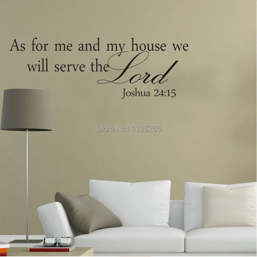 Wonderful Vinyl Wall Stickers Qoutes As For Me And My House We Will Serve The Lord Art  Decorative Decals In Wall Stickers From Home U0026 Garden On Aliexpress.com ...