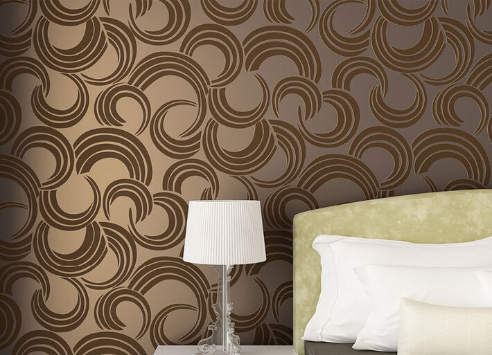 Modern Simple Elegant Ring Papier Peint Abstract Circle Wallpaper 3D Papel De Parede Eco Non Woven TV Wall Paper 4 Colors QZ0011 In Wallpapers From Home