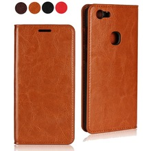 Real Leather Case For OPPO F1 F1A A39 A57 A59m F1S Classic Genuine Flip Stand with Cards Slots