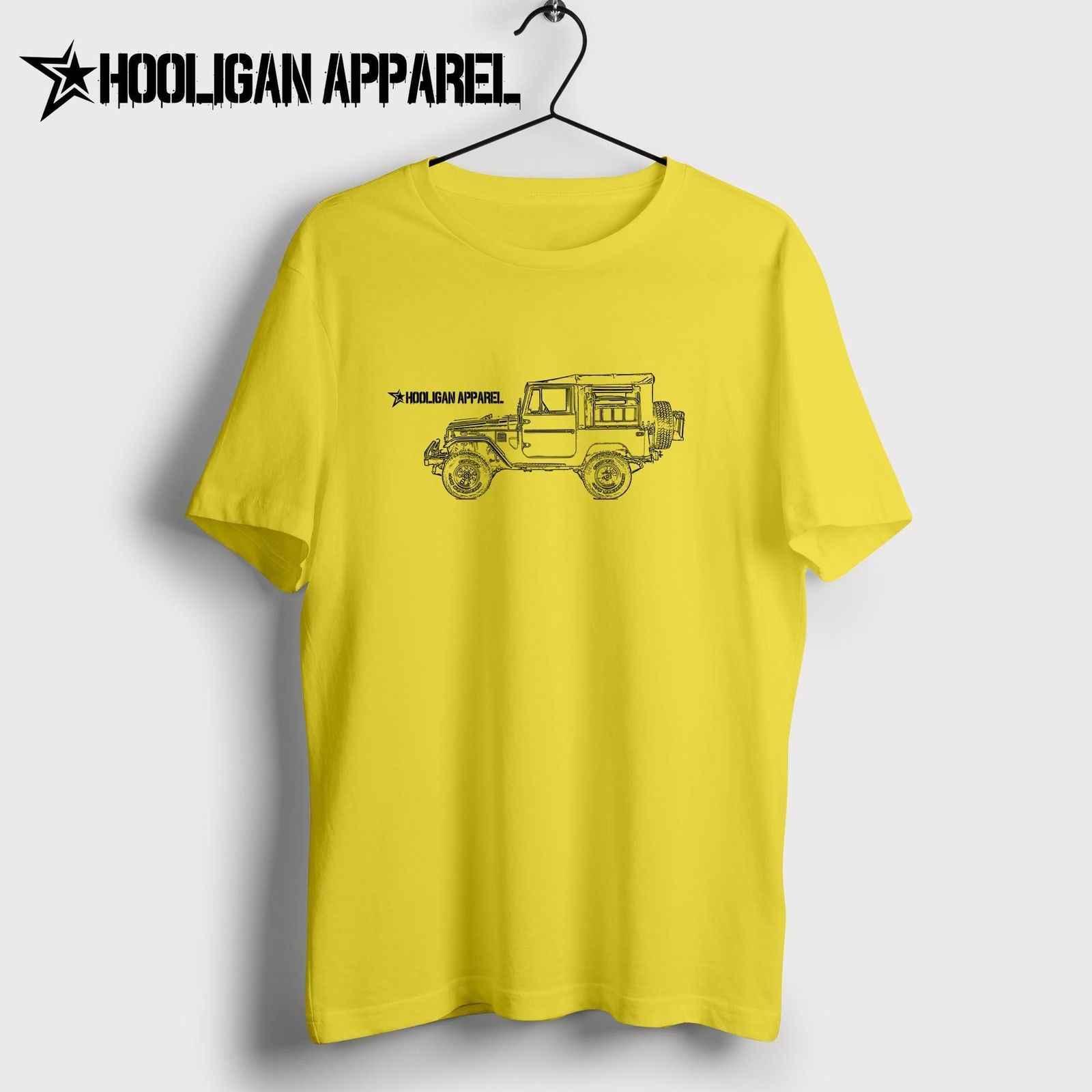 Nova Camisa Dos Homens Homens Verão Tops Clássico Japonês Fãs Do Carro Land Cruiser Fj49 4X4 Tonka Caminhão Personalizado Inspirado arte carro Moderno Tee