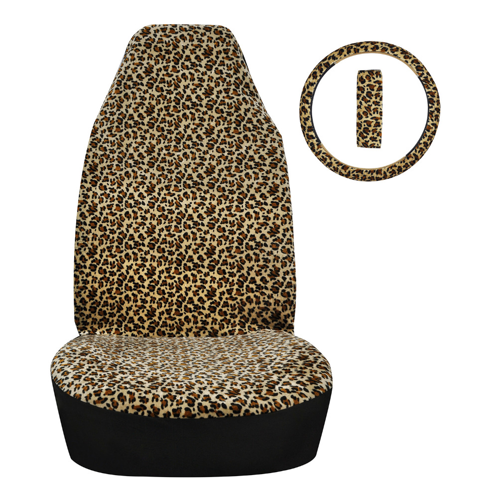 Universal Car Seat Covers Leopard Print Accessories Cover Steering Wheel SUPERART In Automobiles From