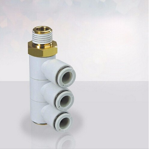 цены tube size 12mm-1/2 PT thread SMC Style Air Fitting Triple Universal Male Elbow KQ2VT