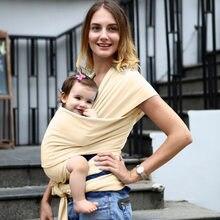 Mochila portabebés para bebé, canguro de viaje para bebé, draagdoek, fular, portabebé, venta al por mayor