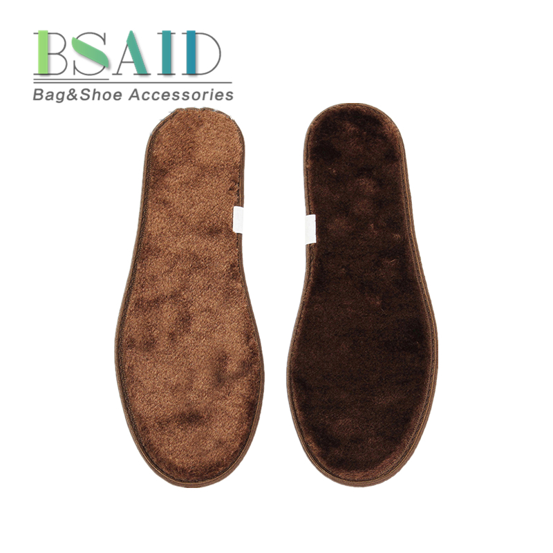 1Pair Fur Insoles For Shoes, Winter Warm Thick Pads Size 36-45 Quality Breathable Unisex Pad Man Women Snow Boot Inner Shoe Sole