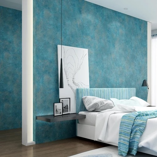 European Modern Luxury Style Wallpapers Living Room Background Wallpaper 3d Wall Papers Nonwoven Home Decor Blue Wall Paper Roll blue earth cosmic sky zenith living room ceiling murals 3d wallpaper the living room bedroom study paper 3d wallpaper