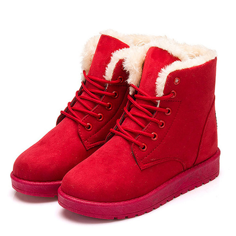 Classic Women Winter Boots Women Shoes Suede Ankle Boots Snow Boots Female Warm Fur Plush Insole  Botas Mujer Lace-Up 2017 new fashion women winter boots classic suede ankle snow boots female warm fur plush insole high quality botas mujer lace up