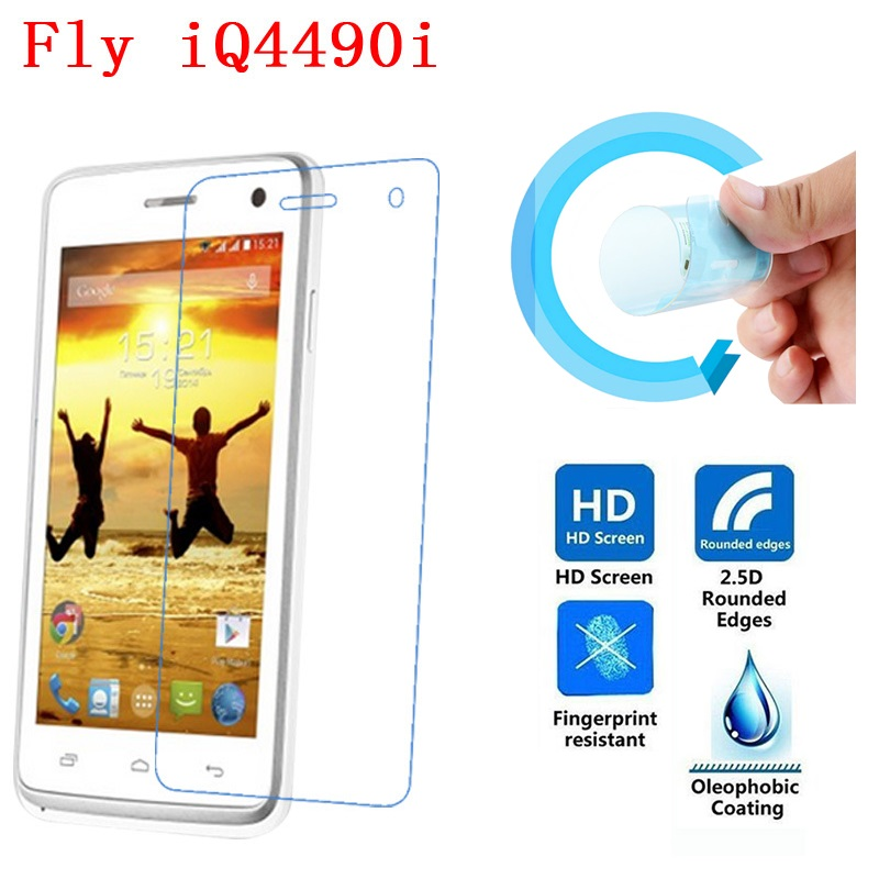 Fly IQ4490i Screen Protective Film, 2.5D Ultra-Thin HD Clear Soft Pet Screen Protector Film for Fly IQ4490i ERA Nano 10