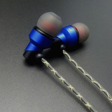 RY02 blue original In-Ear earphone  10mm metal earphone quality sound HIFI music / office earphone (IE800 style cable) 3.5mm