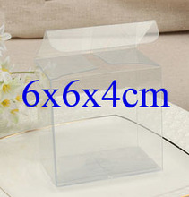 Wholesale100pcs=1lot Clear PVC Box Packing Wedding/Christmas Favor Candy/Apple/Gift/Candle/Dry Fruit Toys Box 6*6*4cm Can Custom