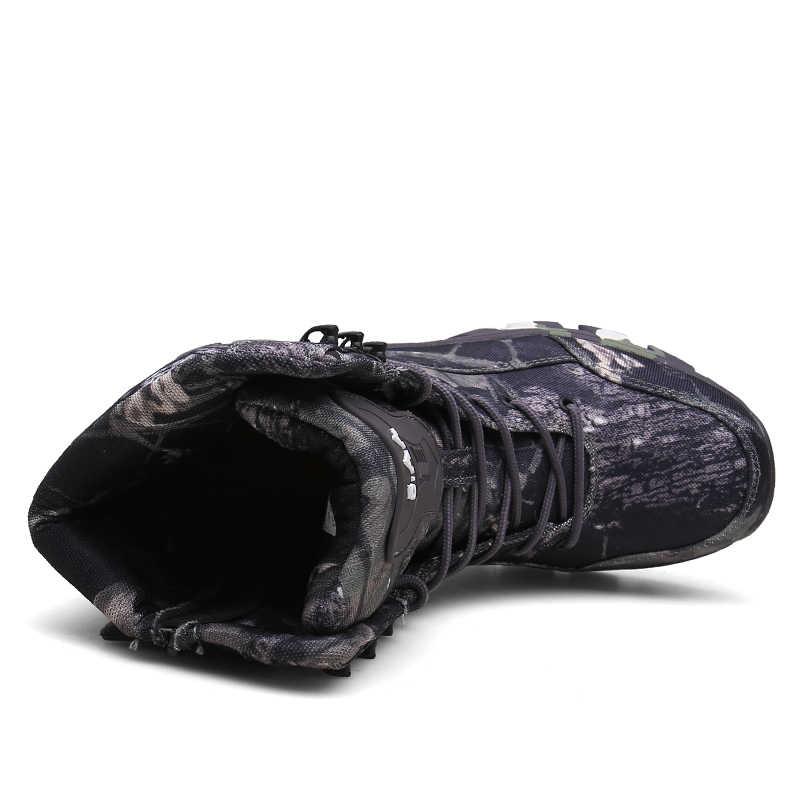 2019 Açık asker botu erkek Askeri Çöl Taktik Çizme Ayakkabı Sonbahar Nefes Savaş yarım çizmeler Botas Tacticos Zapatos