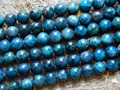 Free shipping (42 beads/strand/50g) natural 9-9.5mm blue apatite round loose gem stone beads for jewelry making