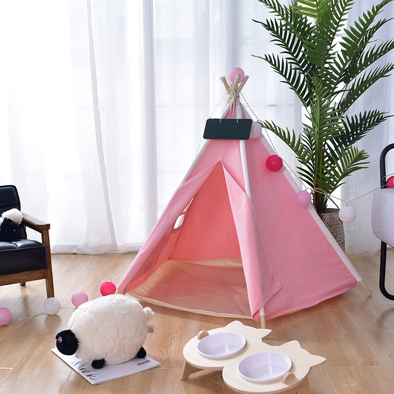 Plain Pink Canvas Dog Teepee Without Cushion barbour plain lambswool pink page 8
