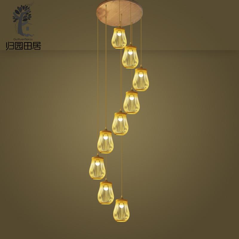 luz desvn lmparas de bamb original de piso de la sala de gran colgante de luz
