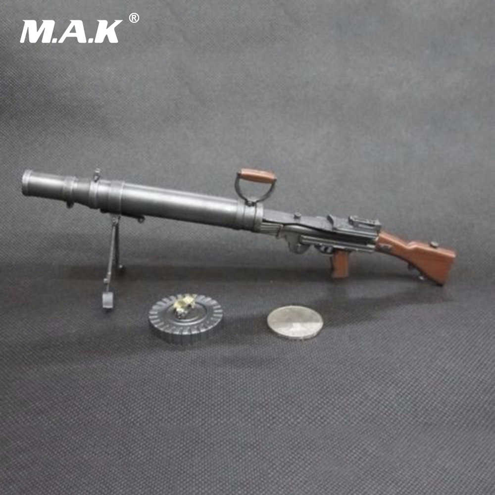 7 7mm Light Machine Gun Weapon Model Toys 1/6 Scale Soldier Weapon WWI UK  Lewis M1914 for 12