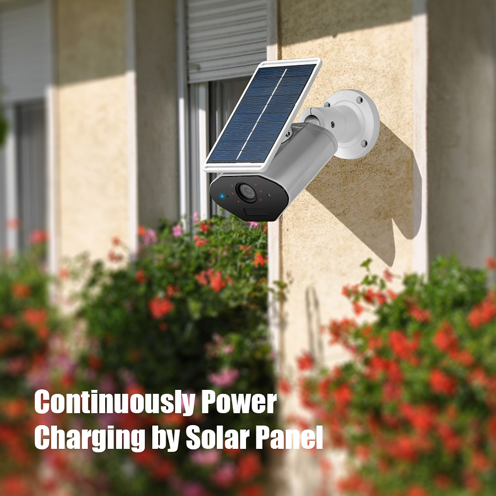 Image 4 - KERUI L4 Security Solar Camera Outdoor powered wireless IP camera wifi waterproof 1.3MP HD IR Night Vision Solar Battery Power-in Surveillance Cameras from Security & Protection