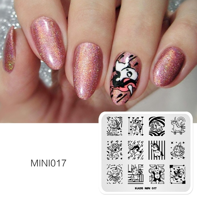 KADS New Arrival MIN Stamp Lovely Cartoon Unicorn Nail Art Image Stamp  Template Stencil Beauty Tools - KADS New Arrival MIN Stamp Lovely Cartoon Unicorn Nail Art Image