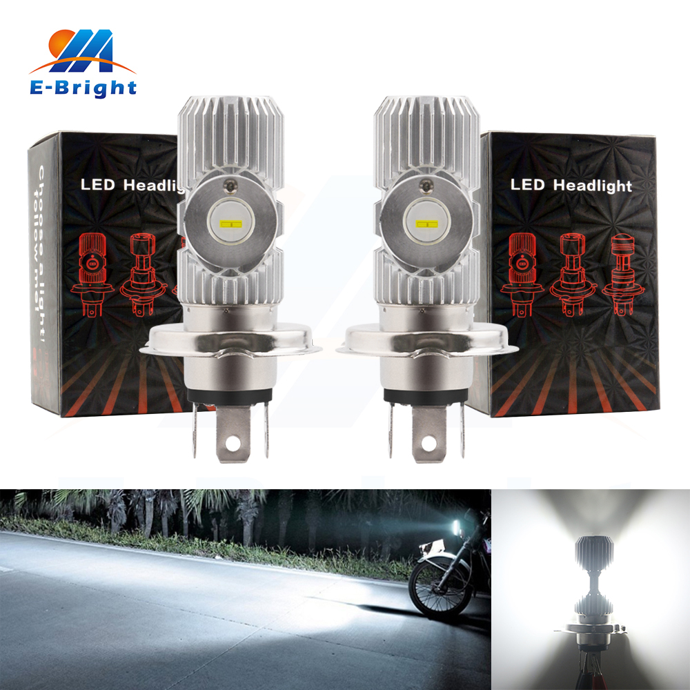 Car Lights Automobiles & Motorcycles Sensible 2pcs/lot Led H4 Motorcycle Headlights With High Low Beam Csc Chip Super Bright 1200lm Aluminum 12w 9-80v White Driving Fog Light