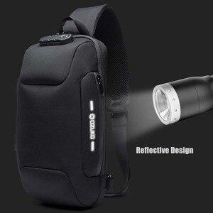 Image 3 - OZUKO Fashion Messenger Shoulder Bag Anti theft USB Charging Chest Pack Crossbody Bags for Men Sling Bag Fashion Phone Bags