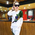 European new leisure suit with sequins Phoenix rousers Womens Sets suit