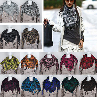 Fashion Women Arab Shemagh Keffiyeh Palestine   Scarf   Shawl Kafiya Hot 13 Colors