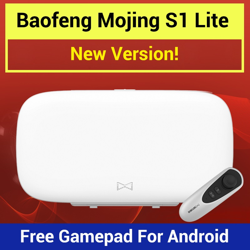 Baofeng Mojing S1 Lite 3D VR Glasses Virtual Reality Glasses VR Box 110 FOV Fresnel Lens Bluetooth Game Joystick for Smartphone все цены