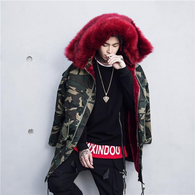 New Design Parka Men 2017 Winter Cloths Men s Fashion Brand Long Plus Cotton Coat Thick
