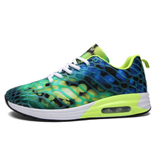 Color Breathable Couples Air Cushion Damping Running Shoes Sport Boots Sneakers
