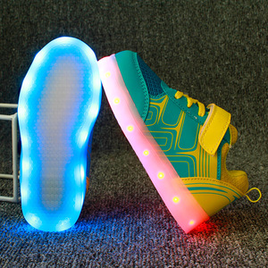 Image 3 - גודל 25 37 ילדים סניקרס עם אור זוהר סניקרס בד נעלי סניקרס הזוהר עבור בני בנות Krasovki עם תאורה אחורית