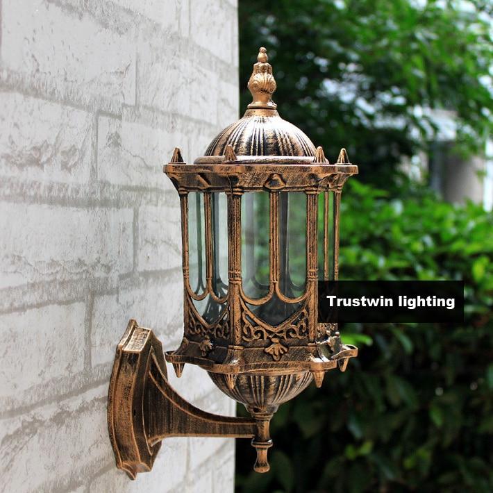 2 Pieces Classic Classical Waterproof Antique Outdoor Wall Light 220V 230V  240V 110V 120V Vintage Outdoor
