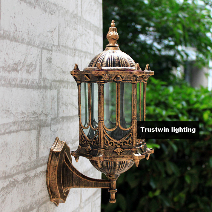 2 pieces classic classical waterproof antique outdoor wall light 220v 230v 240v 110v 120v vintage outdoor antique courtyard outdoor lighting 1