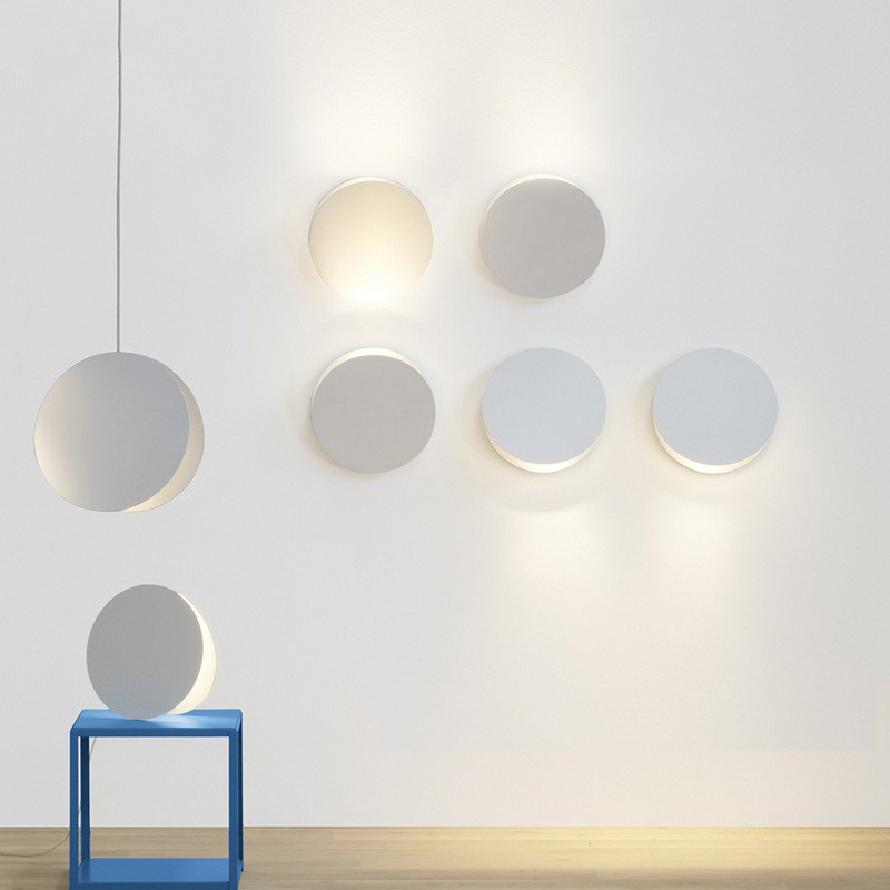 Modern Nordic Colorful Round LED Wall Lamp Sconce Light Home Porch Bedroom Bedside Lamp Lighting Fixture Wall Art Home Decor modern lamp trophy wall lamp wall lamp bed lighting bedside wall lamp